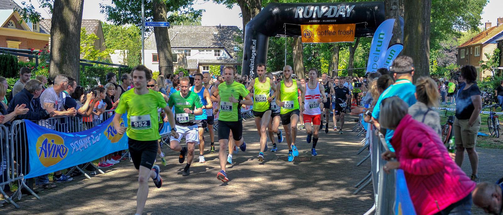 Keppelrun 10km start hardlopers
